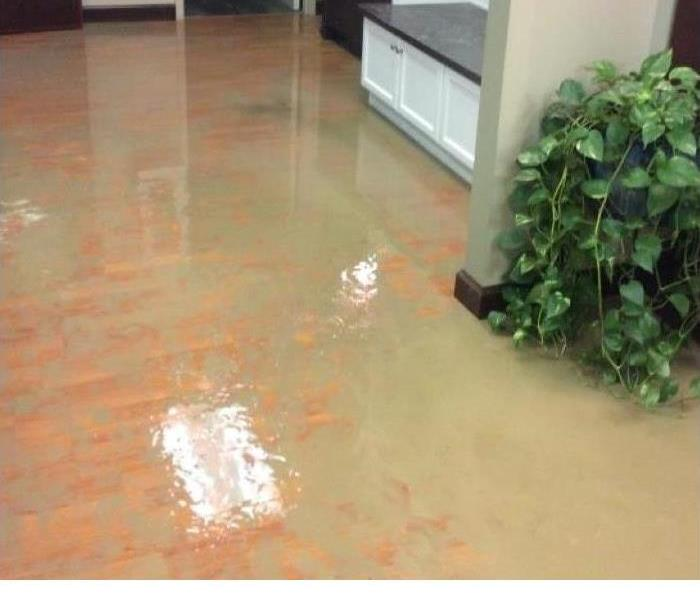 Building Flood Caused By Car Accident Before